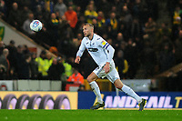 Mike van der Hoorn of Swansea City in action during the Sky Bet Championship match between Norwich City and Swansea City at Carrow Road in Norwich, England, UK. Friday 08 March 2019