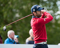 21.05.2015. Wentworth, England. BMW PGA Golf Championship. Round 1.  Gregory Bourdy [FRA] on the first tee. The first round of the 2015 BMW PGA Championship from The West Course Wentworth Golf Club
