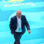 14.06.2021 Scotland v Czech Republic:  Steve Clarke disconsolate at half time