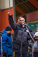 The rally was held in support of then Mayoral candidate Jesus 'Chuy' Garcia and to raise issues like having an elected school board that answers to the neighborhoods and parents instead of the present board which is appointed by the mayor of the city. A large crowd gathered at the James R. Thompson Center in downtown Chicago to rally against President Trumps. declaration of a national emergency at the nation's southern border. Numerous Latinx politicians were present to speak out against what they called a racist injustice. r Hispanic Politicians Giving Speeches at Various Events