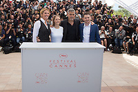 JULIA ROBERTS, JODIE FOSTER, GEORGE CLOONEY, JACK O'CONNELL - CANNES 2016 - PHOTOCALL DU FILM 'MONEY MONSTER'