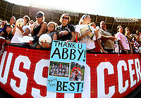 WASHINGTON D.C. - September 02, 2013:<br /> Fans of Abby Wambach During a USA WNT open practice at RFK Stadium, in Washington D.C. the day before the USA v Mexico international friendly match.