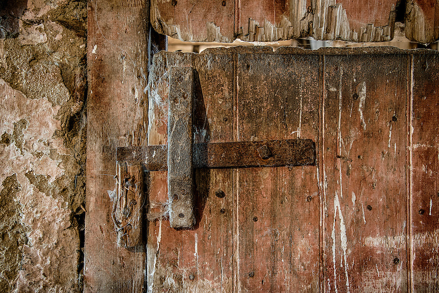 Rustic and worn stable door.