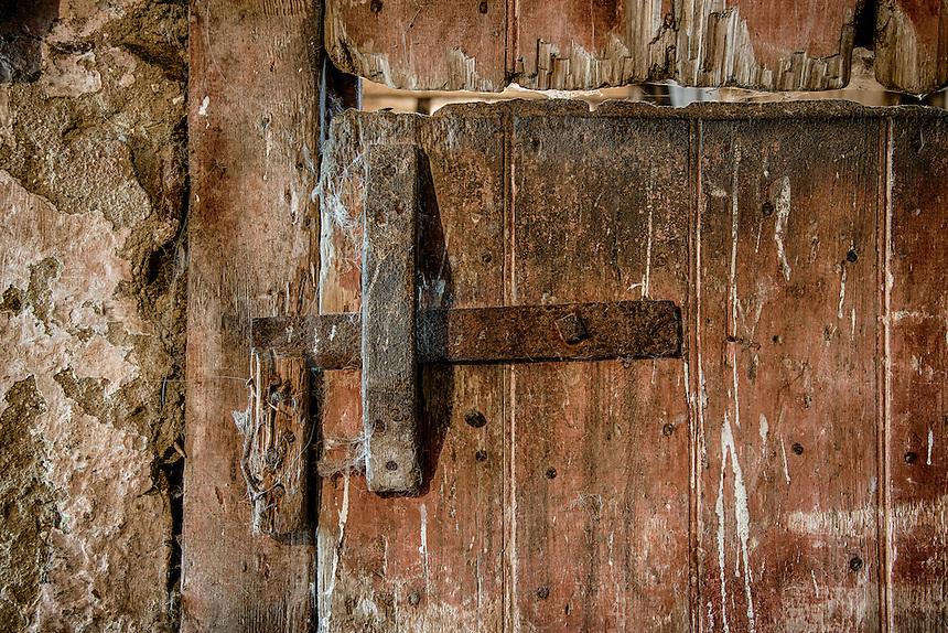Rustic and worn stable door.