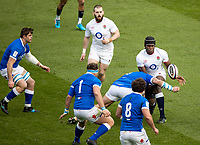 13th February 2021; Twickenham, London, England; International Rugby, Six Nations, England versus Italy; Maro Itoje of England is tackled