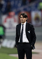 Calcio, Serie A: Lazio - Genoa, Roma, Stadio Olimpico, 5 Febbraio 2018. <br /> Lazio's coach Simone Inzaghi looks on during the Italian Serie A football match between Lazio and Genoa at Rome's Stadio Olimpico, February 5, 2018.<br /> UPDATE IMAGES PRESS/Isabella Bonotto