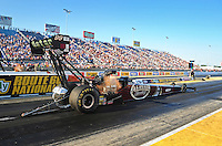 Jul, 8, 2011; Joliet, IL, USA: NHRA top fuel dragster driver Del Worsham during qualifying for the Route 66 Nationals at Route 66 Raceway. Mandatory Credit: Mark J. Rebilas-