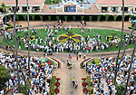 July 20, 2011.Fans in the paddock area for opening day att Del Mar Thoroughbred Club.