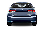 Straight rear view of a 2019 Toyota Corolla Dynamic 4 Door Sedan stock images