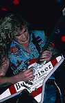 WASP -Chris Holmes performing live in Los Angeles -Aug 1989 Chris Holmes of WASP