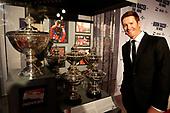 Scott Dixon and his five championship trophies