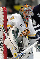 "5 January 2007: University of Vermont goaltender Mike Spillane (31) from Bow, NH, in action against the University of New Hampshire Wildcats at Gutterson Fieldhouse in Burlington, Vermont. The UNH Wildcats defeated the UVM Catamounts 7-1 in front of a record setting 48th consecutive sellout at ""the Gut""...Mandatory Photo Credit: Ed Wolfstein Photo.<br />"