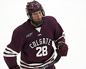 Hunter Racine (Colgate - 28) - The visiting Colgate University Raiders shut out the Harvard University Crimson for a 2-0 win on Saturday, January 27, 2018, at Bright-Landry Hockey Center in Boston, Massachusetts.