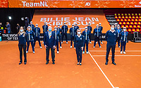 Den Bosch, The Netherlands, April 17, 2021,    Maaspoort, Billie Jean King Cup  Netherlands -  China , Umpires and linespersons<br /> Photo: Tennisimages/Henk Koster