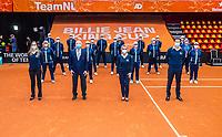 Den Bosch, The Netherlands, April 17, 2021,    Maaspoort, Billie Jean King Cup  Netherlands -  China , Umpires and linespersons<br /> Photo: Tennisimages/Henk Koster