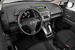 High angle dashboard view of a 2008 Mazda 5