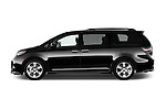 Car Driver side profile view of a 2017 Toyota Sienna SE 5 Door Minivan Side View