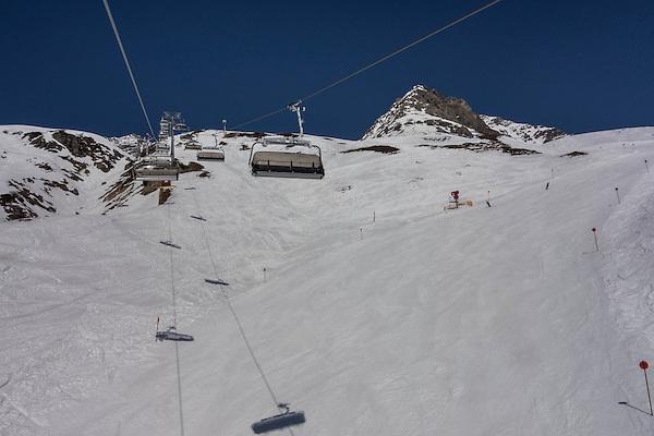 Arlenmahder Chairlift at St Anton Ski Area, Austria,