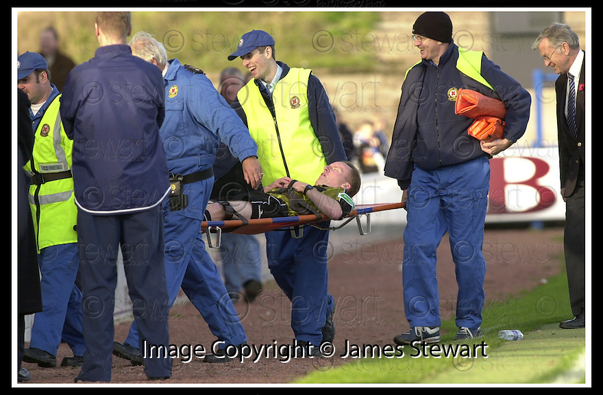 26/10/02       Collect Pic : James Stewart                     .File Name : stewart-qots v ross county 11.REFEREE DAVID SOMERS IS CARRIED FROM THE PITCH..........James Stewart Photo Agency, 19 Carronlea Drive, Falkirk. FK2 8DN      Vat Reg No. 607 6932 25.Office : +44 (0)1324 570906     .Mobile : + 44 (0)7721 416997.Fax     :  +44 (0)1324 570906.E-mail : jim@jspa.co.uk.If you require further information then contact Jim Stewart on any of the numbers above.........