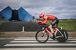 Soren Kragh Andersen (DEN) Team Sunweb powers his way to victory during Stage 4 of the 78th edition of Paris-Nice 2020, and individual time trial running 15.1km around Saint-Amand-Montrond, France. 11th March 2020.<br /> Picture: ASO/Fabien Boukla | Cyclefile<br /> All photos usage must carry mandatory copyright credit (© Cyclefile | ASO/Fabien Boukla)