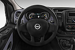 Steering Wheel View of 2015 Opel Vivaro Edition 4 Door Cargo Van 2WD Stock Photo