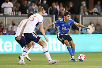 SAN JOSE, CA - AUGUST 13: Shea Salinas #6 of the San Jose Earthquakes during a game between Vancouver Whitecaps and San Jose Earthquakes at PayPal Park on August 13, 2021 in San Jose, California.
