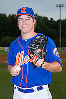 Kingsport Mets pitcher Witt Haggard (17) poses for a photo prior to the game against the Elizabethton Twins at Hunter Wright Stadium on July 8, 2015 in Kingsport, Tennessee.  The Mets defeated the Twins 8-2. (Brian Westerholt/Four Seam Images)