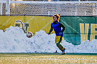 13 November 2019: University of Vermont Catamount Forward JoJo Moulton-Condiotti, a Freshman from Brooklyn, NY, warms up prior to the America East Semi-Final game against the University of Hartford Hawks at Virtue Field in Burlington, Vermont. The Catamounts fell to the visiting Hawks 3-2 in sudden death overtime of the Division 1 Men's Soccer matchup. Mandatory Credit: Ed Wolfstein Photo *** RAW (NEF) Image File Available ***