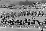 Bethel Park PA: View of the Bethel Park Band's Bethettes.  Cathy Stewart was a member of Bethettes (front row - middle person).  This photo was taken at Elizabeth Forward High School.