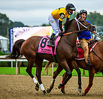 SEPT 05, 2021: SEQUIST post parade in the Gr.1 Spinaway Stakes, for 2-year old fillies, going 7 furlongs, at Saratoga Racecourse, Saratoga Springs, New York. Sue Kawczynski/Eclipse Sportswire/CSM