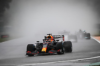 29th August 2021; Spa Francorchamps, Stavelot, Belgium: FIA F1 Grand Prix of Belgium,  race day: 33 VERSTAPPEN Max (nld), Red Bull Racing Honda RB16B, during the formation laps in heavy rain before cancellation of the race due to standing water