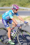 Race leader Kristijan Durasek (CRO) Lampre-Merida during Stage 7 of the 2015 Presidential Tour of Turkey running 166km from Selcuk to Izmir. 2nd May 2015.<br /> Photo: Tour of Turkey/Mario Stiehl/www.newsfile.ie