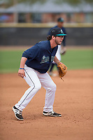 Seattle Mariners third baseman Connor Hoover (9) during a Minor League Spring Training game against the San Diego Padres at Peoria Sports Complex on March 24, 2018 in Peoria, Arizona. (Zachary Lucy/Four Seam Images)