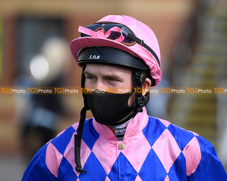 Jockey Finlay Marsh during Horse Racing at Salisbury Racecourse on 11th September 2020