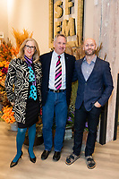 SAN FRANCISCO, CA - October 16 - Pammy Blackstone, David Perry and Tony Winniker attend Kilroy Realty / US Olympic Sailing Cocktail Reception 2019 on October 16th 2019 at Kilroy Innovation Center in San Francisco, CA (Photo - Andrew Caulfield for Drew Altizer Photography)