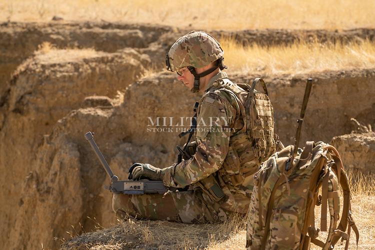 US Army Nick Desert Communications