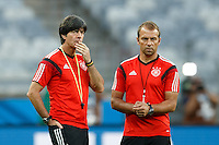 Germany manager Joachim Low with his assistant Hans-Dieter Flick