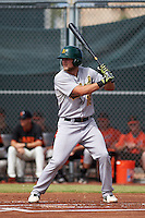 Oakland Athletics Seth Brown (16) during an instructional league game against the San Francisco Giants on October 12, 2015 at the Giants Baseball Complex in Scottsdale, Arizona.  (Mike Janes/Four Seam Images)