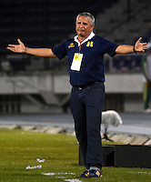 BARRANQUILLA  -COLOMBIA, 2-FEBRERO-2015. Adolfo Holguin director tecnico  de Alianza Petrolera durante partido contra Uniautonoma  por la fecha 1 de la Liga çguila I 2015 jugado en el estadio Metropolitano  de la ciudad de Barranquilla./ Adolfo Holguin coach of Alianza Petrolera   during the match against Uniautonoma  for the first date of the Aguila League I 2015 played at Metropolitano  stadium in Barranquilla city<br />  . Photo / VizzorImage / Alfonso Cervantes / Stringer