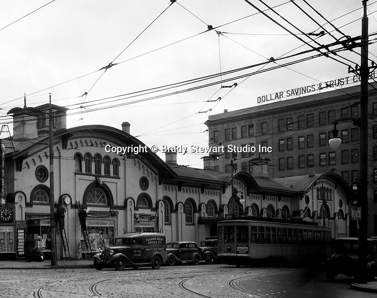 Pittsburgh PA: The North Side Market House was located at Ohio and Federal streets. Fresh fruits, vegetables, loaves of bread, and meats were available for wholesale and retail customers.  There was a sister Market House across town in East Liberty.  The North Side Market was razed in 1965 to make room for the new office and mall complex, Allegheny Center.