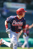Peoria Chiefs catcher Brian O'Keefe (32) during the second game of a doubleheader against the South Bend Cubs on July 25, 2016 at Four Winds Field in South Bend, Indiana.  South Bend defeated Peoria 9-2.  (Mike Janes/Four Seam Images)