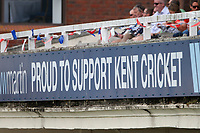 Bunting on display during Kent CCC vs Essex CCC, Specsavers County Championship Division 1 Cricket at the St Lawrence Ground on 18th August 2019