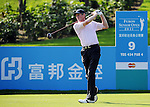 TAIPEI, TAIWAN - NOVEMBER 20: Ross Drummond of Scotland tees off on the 9th hole during day three of the Fubon Senior Open at Miramar Golf & Country Club on November 20, 2011 in Taipei, Taiwan. Photo by Victor Fraile / The Power of Sport Images