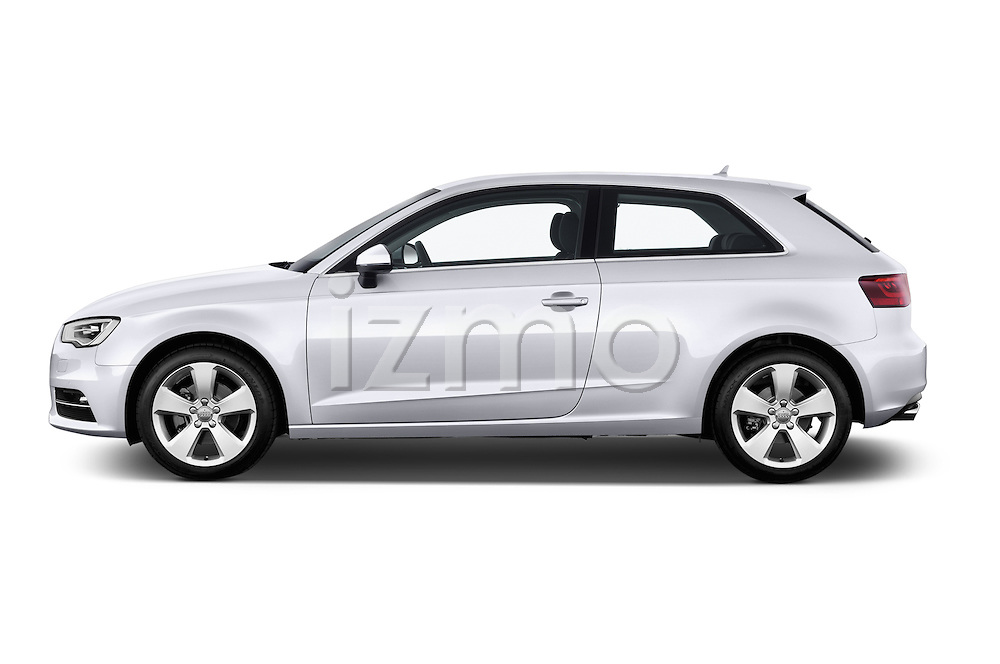 Driver side profile view of a 2013 - 2014 Audi A3 Ambition 3-Door Hatchback.
