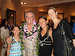 Guy Buffet with Stepdaughter, Nicole and her children, Ava and Hannah, Maui 2009