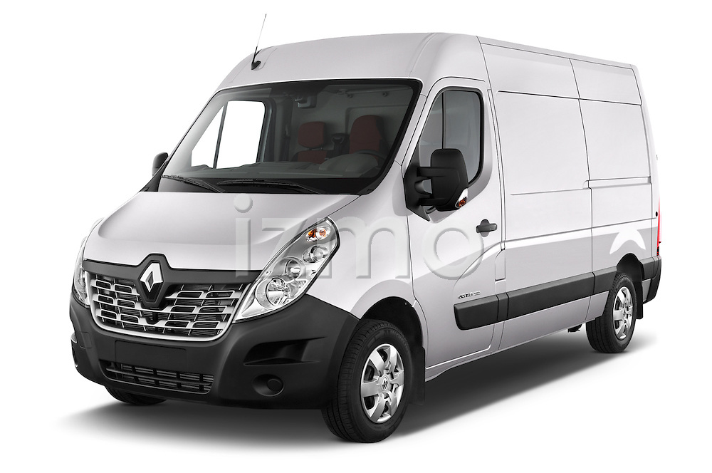2015 Renault MASTER GRAND CONFORT 4 Door Cargo Van Angular Front stock photos of front three quarter view