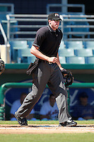 Home plate umpire Nick Lentz during a game between the Minnesota Twins and New York Mets in an Instructional League game at City of Palms Park in Fort Myers, Florida;  October 4, 2010.  Photo By Mike Janes/Four Seam Images