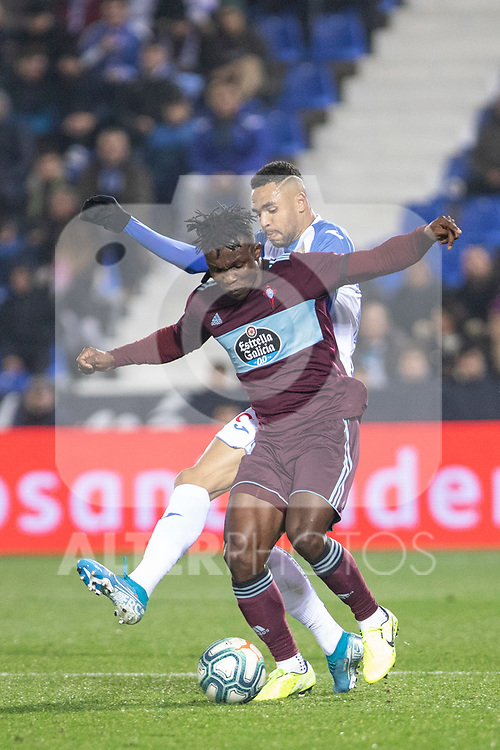 CD Leganes's  Youssef En-Nesyri and RC Celta de Vigo's Joseph Aidoo during La Liga match 2019/2020 round 16<br /> December 8, 2019. <br /> (ALTERPHOTOS/David Jar)