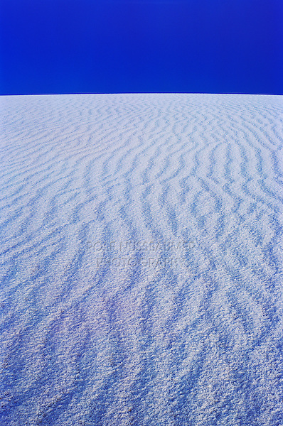 Waves in Sand dune at dusk with frost,White Sands National Monument, New Mexico, USA