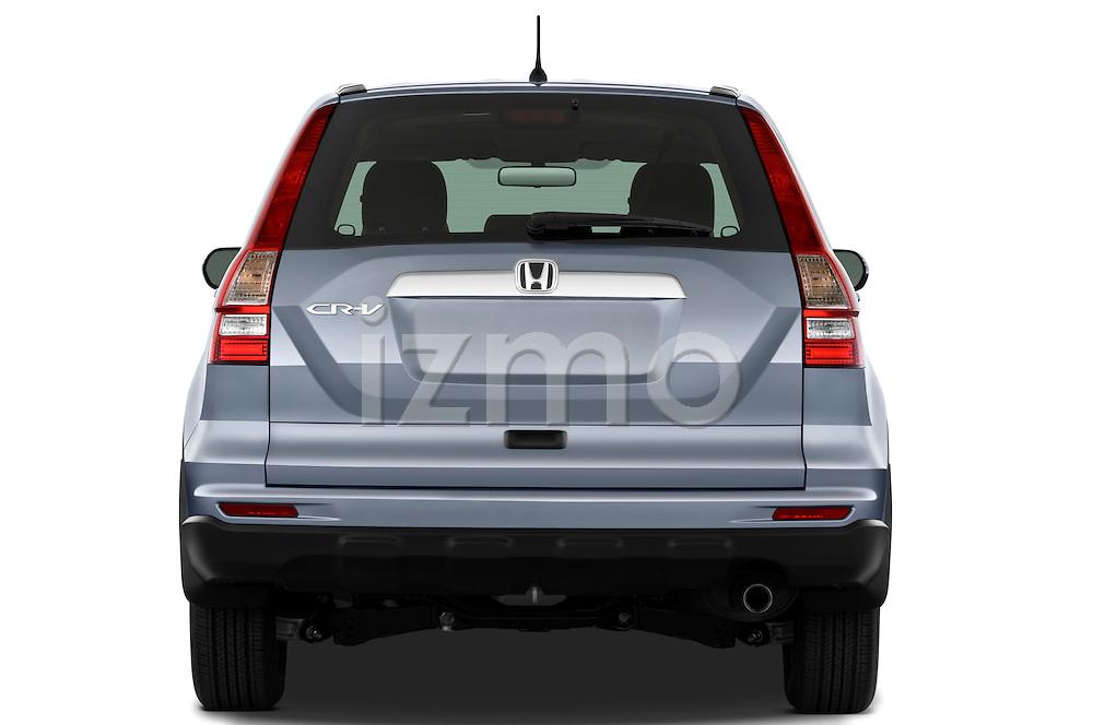 Straight rear view of a 2010 Honda CRV EX